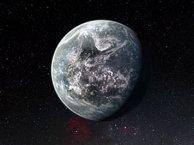 Impresión artística del planeta rocoso recién descubierto en torno a la estrella HD 85512, similar al Sol. Su temperatura de equilibrio no es demasiado alta ni demasiado baja, por lo que podría contener agua líquida