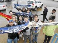 Seguidores del Madrid en Ponferrada.