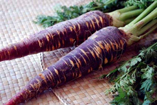 ¡Zanahorias moradas!