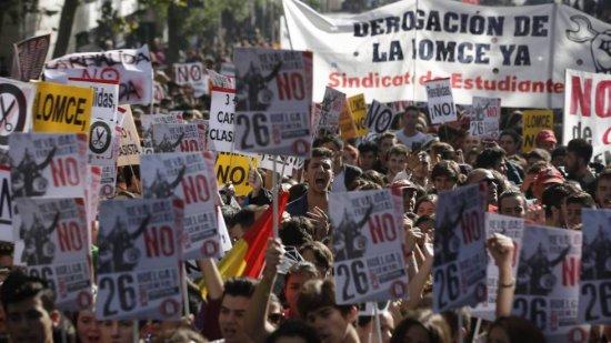 Día de huelga en contra de la LOMCE.