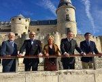 El ministro de Educación y otras autoridades en el Archivo General de Simancas