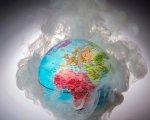 Ilustración sobre la emisión de gases de efecto invernadero en el mundo
