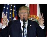 Donald Trump saboreando el triunfo