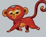 Dibujo de un mono.