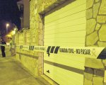Aquí os muestro la foto de la puerta del garaje por la que salía sangre de la víctima de violencia machista