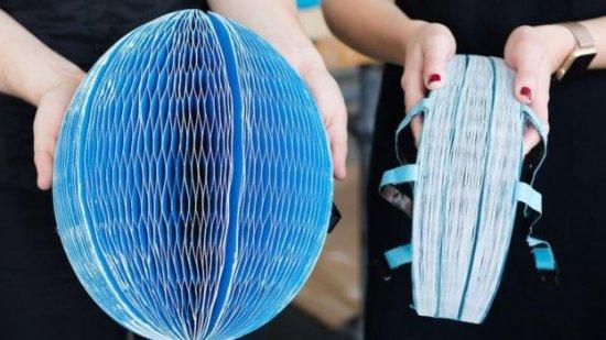 Cascos de papel ganan el premio a la innovación.