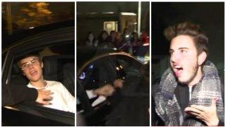 Justin Bieber, y el momento de la agresión. Fuente: lavanguardia.com