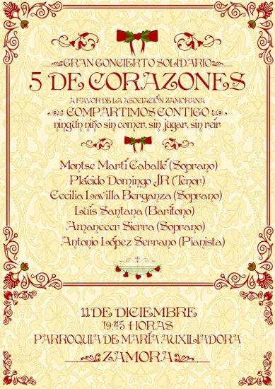 Cinco grandes corazones cantarán en Zamora.