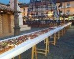 El roscón de reyes en la plaza mayor de Palencia