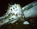 Foto del avión dañado