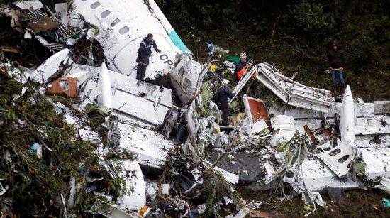 ACCIDENTE DE AVIÓN DEL EQUIPO CHAPECOENSE