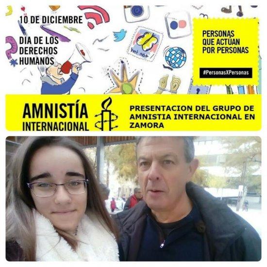 HOY EN EL DÍA INTERNACIONAL DE LOS DERECHOS HUMANOS AMNISTÍA INTERNACIONAL ESTUVO EN LA PLAZA CASTILLA.
