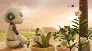 Vídeo-animación en el que se destierra el tópico de que un robot por el mero hecho de serlo no puede servir, ayudar e incluso, aunque ahora no es posible, hacer sentir feliz y reír.