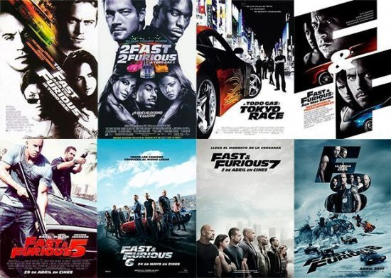 FAST AND FURIOUS (1/2/3/4/5/6/7/8)