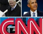 Clinton,Obama y la CNN